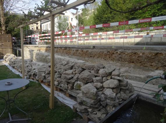 Abbruch Natursteinmauer