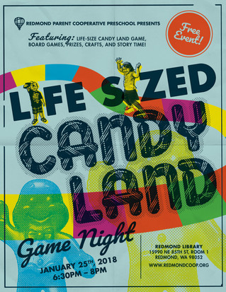 Coming Up! Life-Sized Candy Land Game Night
