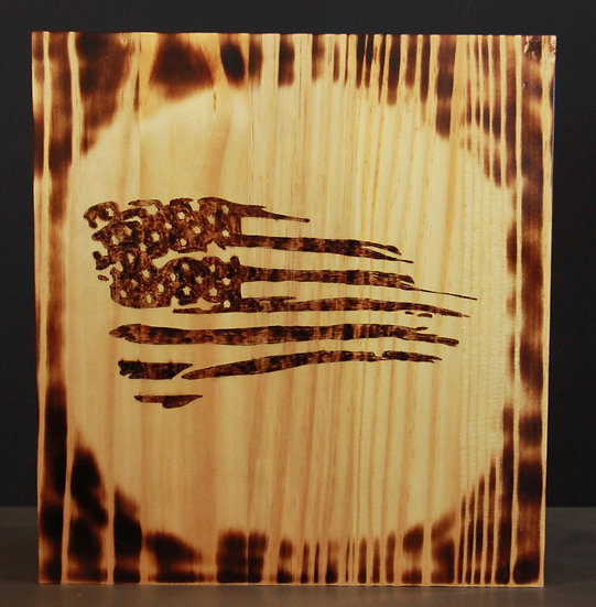 American Flag Tapered Sign