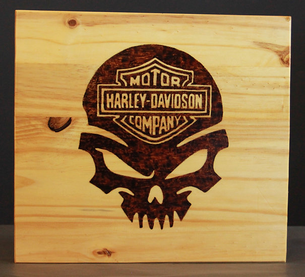 Harley Davidson Skull Sign