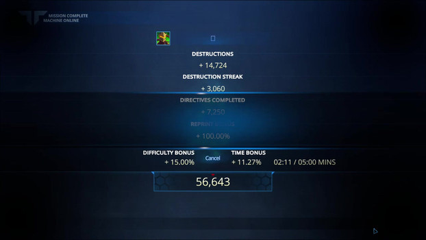 Victory & Score Screen