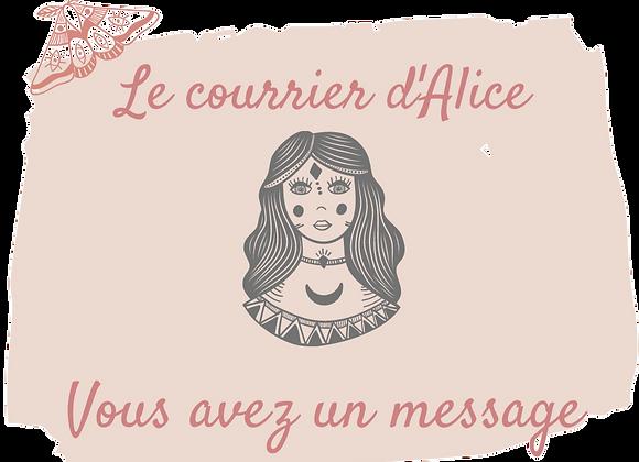 Le courrier d'Alice
