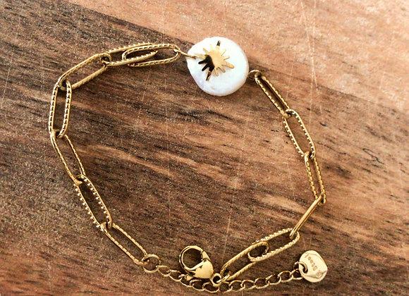 Bracelet perle d'étoile