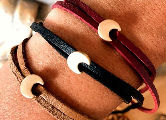 Bracelet Moonette Faux Cuir