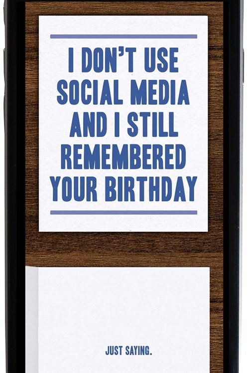 No Social Media Birthday