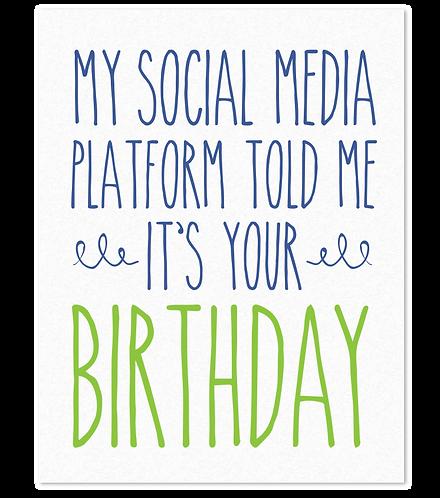 Social Media Birthday