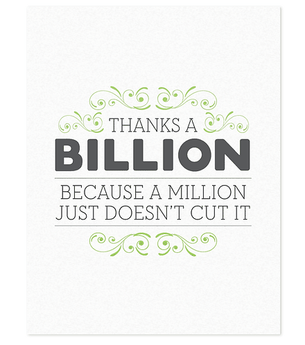 Thanks a billion - Box Set