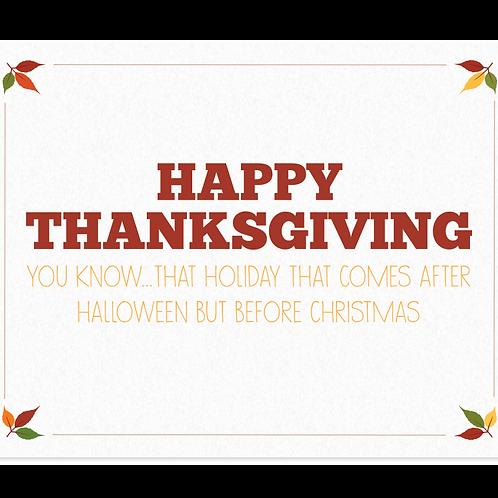 Happy Thanksgiving - Box Set