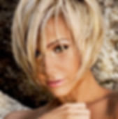 Blonde Women with Short Haircut