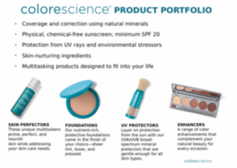 Colorscience Product Portfolio