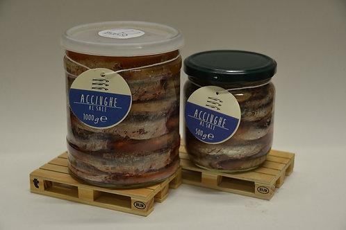 Acciughe al sale (Salamoia) - Salt Anchovies (Brine)
