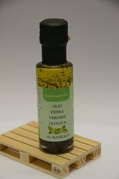 Olio Extra Vergine di Oliva al Basilico-Extra Virgin Olive Oil whit Basil