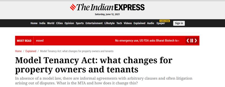 New Tenancy Act