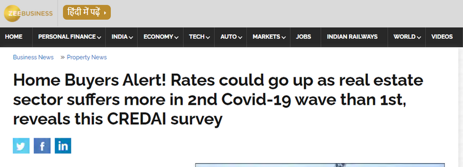 Home Buyers Alert! Rates could go up as real estate suffers more in 2nd Covid-19 wave than 1st