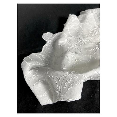 Vintage Emanuel Ungaro floral embroidered napkin