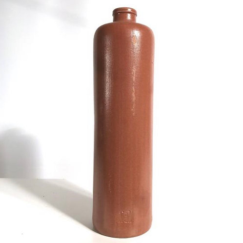 Vintage collectable clay 1l gin bottle.  Erven Lucas Bols Amsterdam.