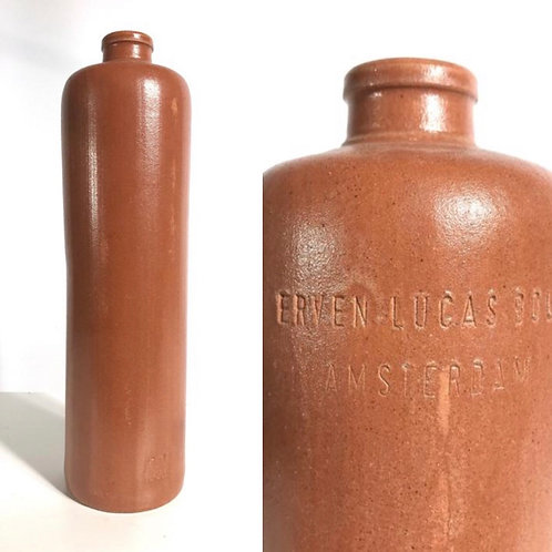 Vintage  collectable gin bottle Erven Lucas Bols Amsterdam. Clay 1l