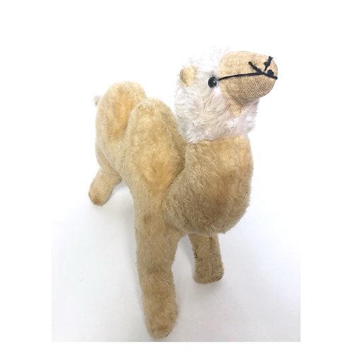 Vintage camel toy. Stuffed animal toy.
