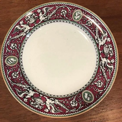 Antique Minton Florentine Griffins Urns and Cameo. Earthenware. Dinner Plate.