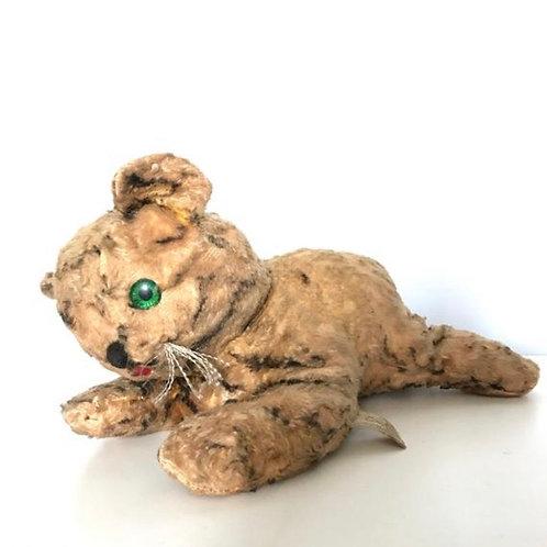 Gund Creations stuffed animal toy. 1950s tiger toy. Plush vintage animal.
