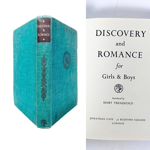 Discovery and Romance 1940s vintage book for girls and boys hardcover lifestyle