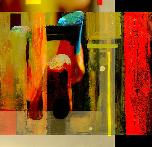 Very interesting abstract painting On Gl