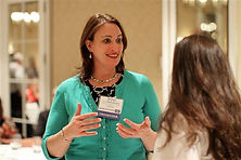 Sonja talks with a participant at CASB in November 2011