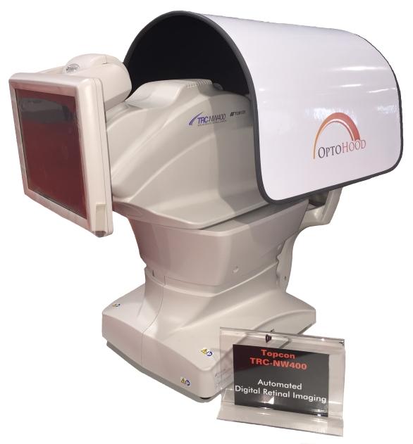 Optohood Topcon NW400 retina fundus camera