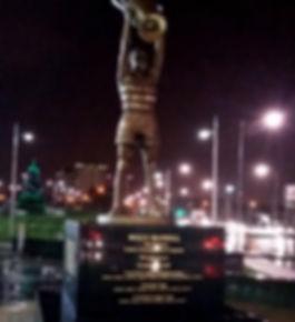 Celtic Football Billy McNeill Memorial Lettering by Lanark Memorials