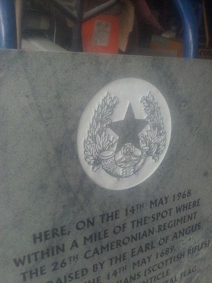 Cameronian memorial douglas - Laark Memorials