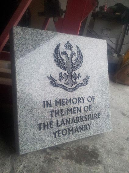Lanarkshire Yeomanry Memorial wishaw