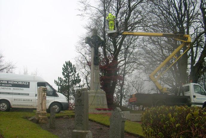 Douglas Cenotaph Memorial Douglas - Lanark Memorials Restoration Cleaning