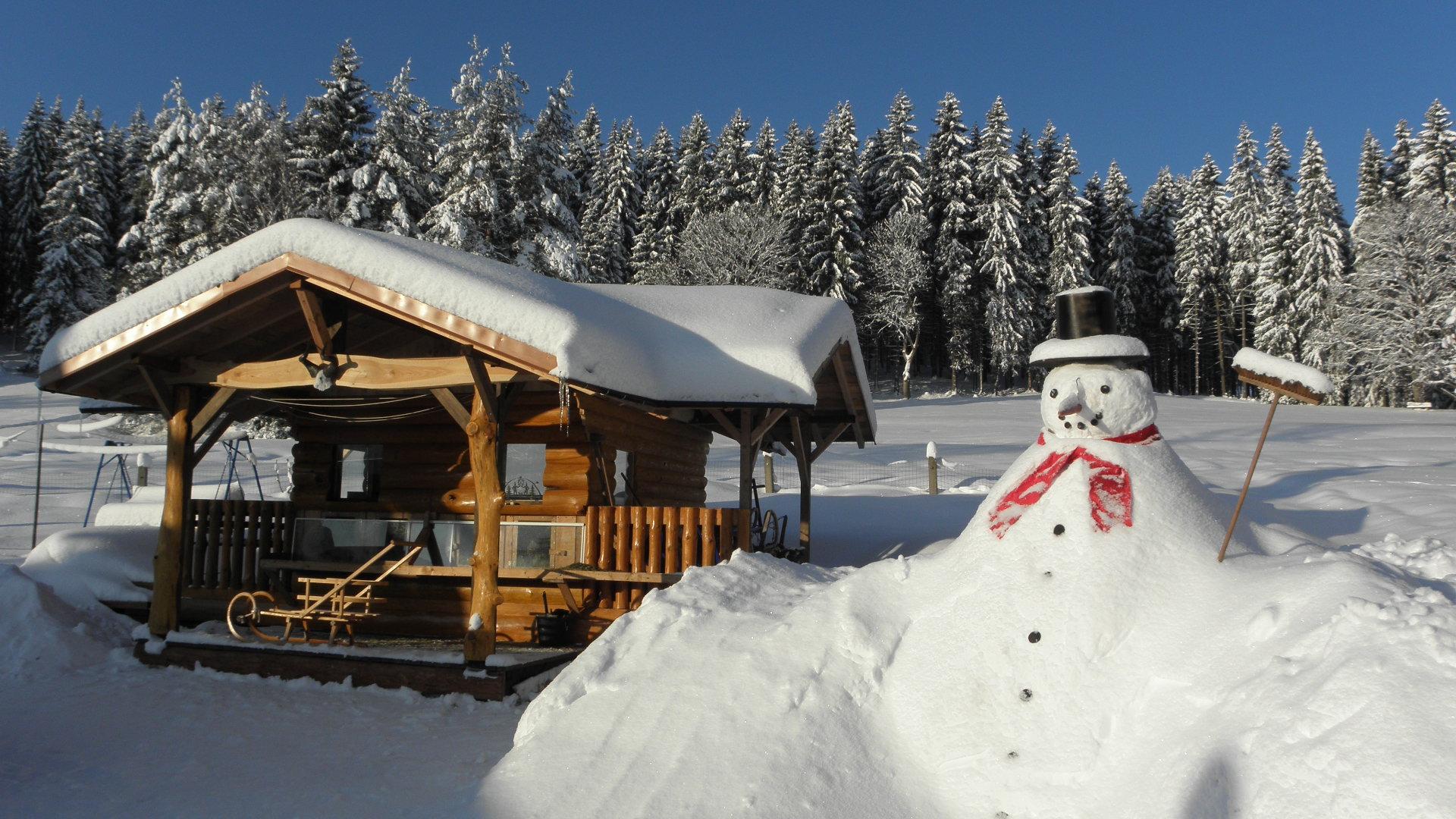 Das Hasenhotel im Winter