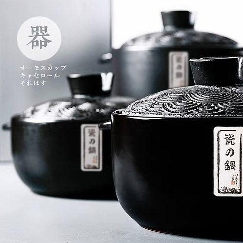 厨夫人-日式黑曜石砂锅