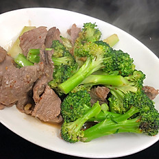 406.	PAD NUM MUN HOY (OYSTER OIL BROCCOLI PLATE)