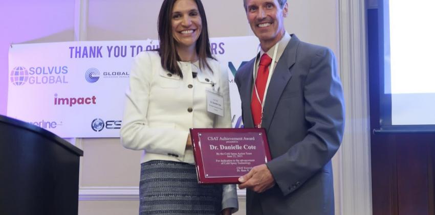 CSAT Achievement Award with Danielle Cote