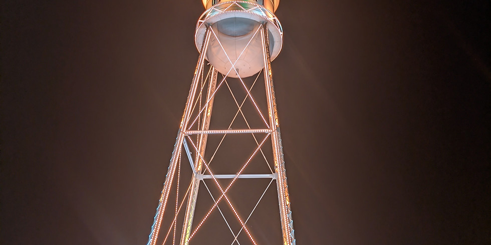 Historic Gilbert Water Tower Goes Orange for TEAM 4 Travis