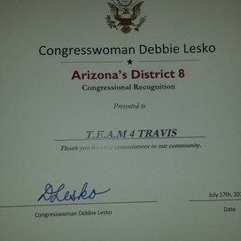 Congressional Recognition from US Representative Debbie Lesko​