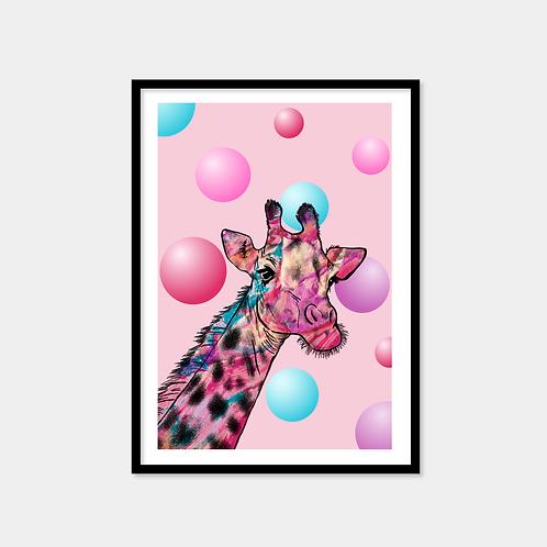 Giraffe And Bubbles