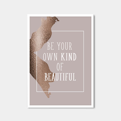 White And Bronze Quote