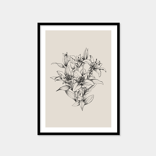 Cluster Line Flowers