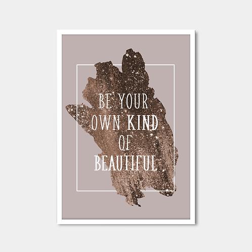 White And Bronze Quote
