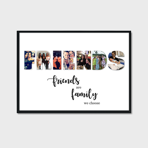 Personalised Friends Photo Print
