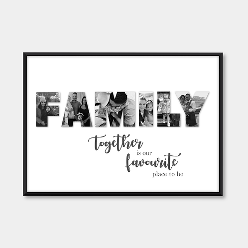 Personalised Family PhotoPrint