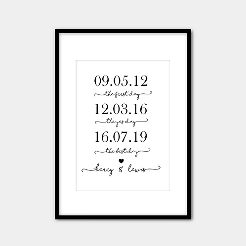 Personalised Wedding (special dates)