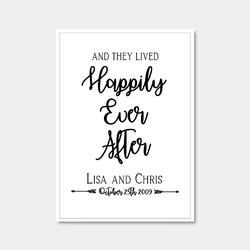 Personalised Wedding (Happily Ever)