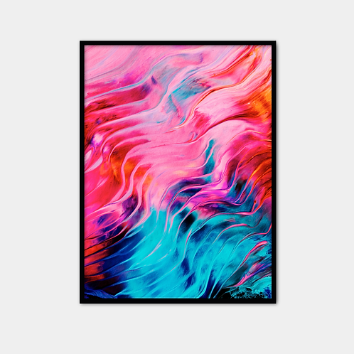 Pink And Blue Waves