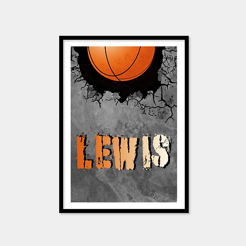 Personalised Basketball Print