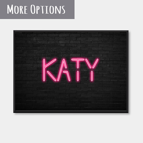 Neon Light Name (pink)