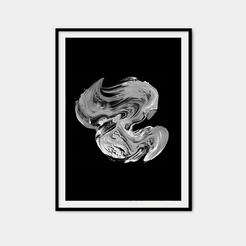 Black paint swirl